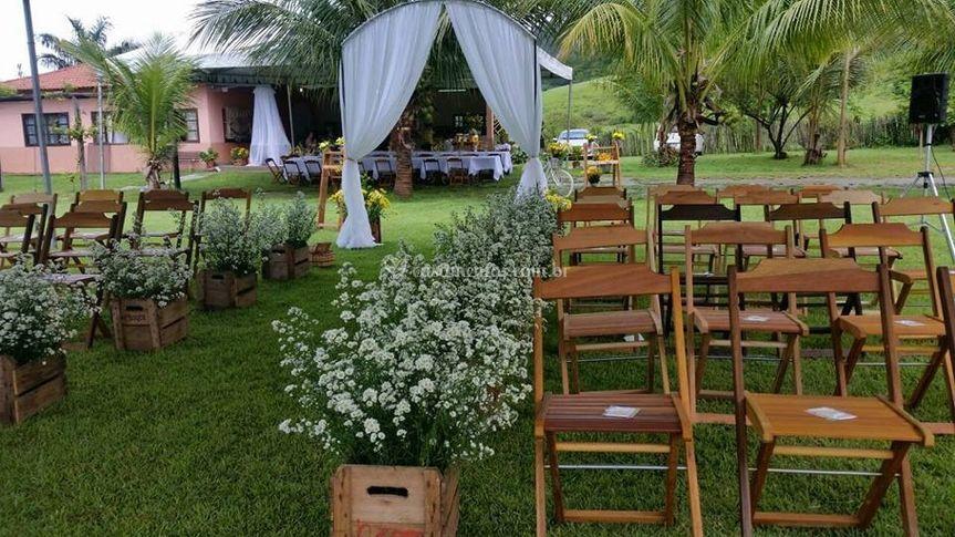 Casamento realizado na chácara