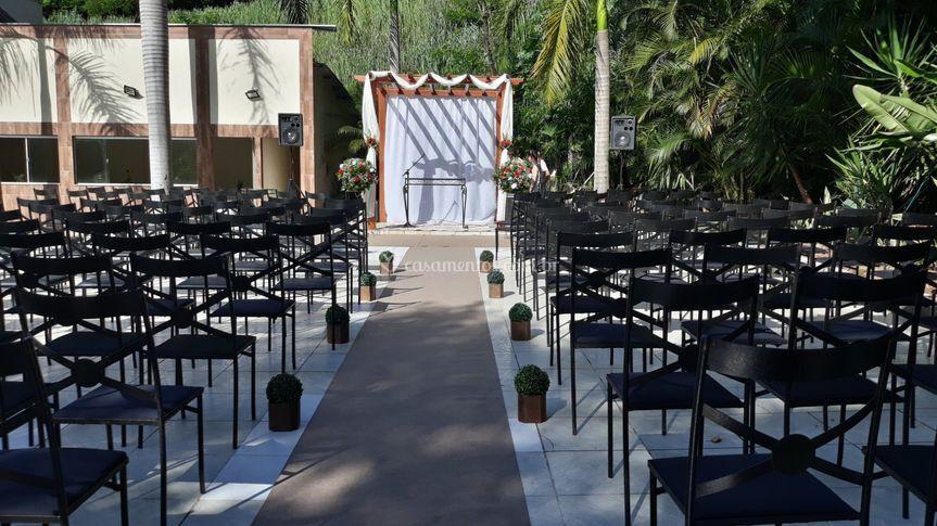 Àrea externa para cerimônia