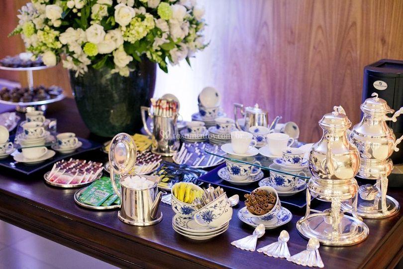 Mesa de chás harmonizada