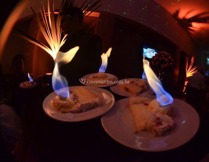Cake Flamejante