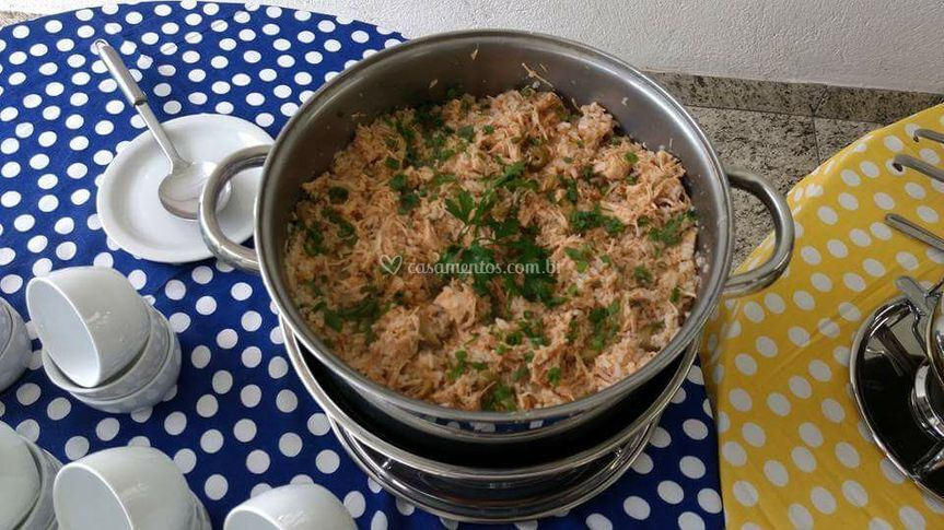 Risoto frango e champignon