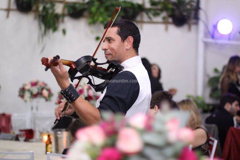 Live Violin na festa