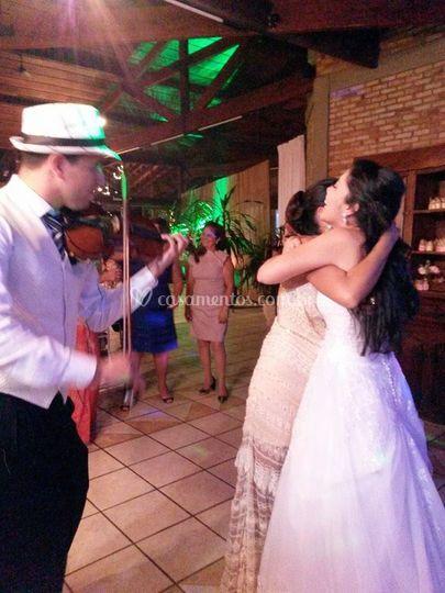 Violino para dança dos noivos
