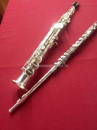 Flauta e sax para eventos