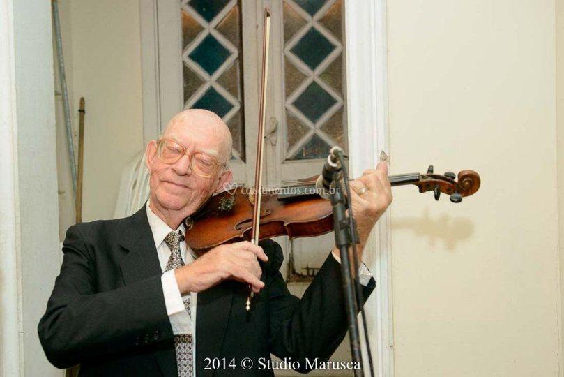 O som lindo do violino