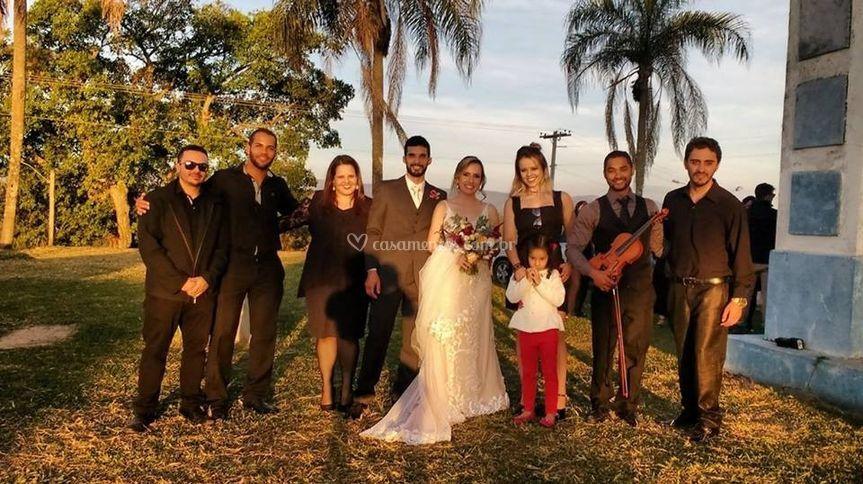 Com os noivos!