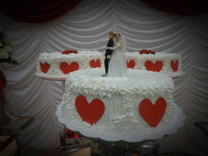 Detalhe do topo do bolo