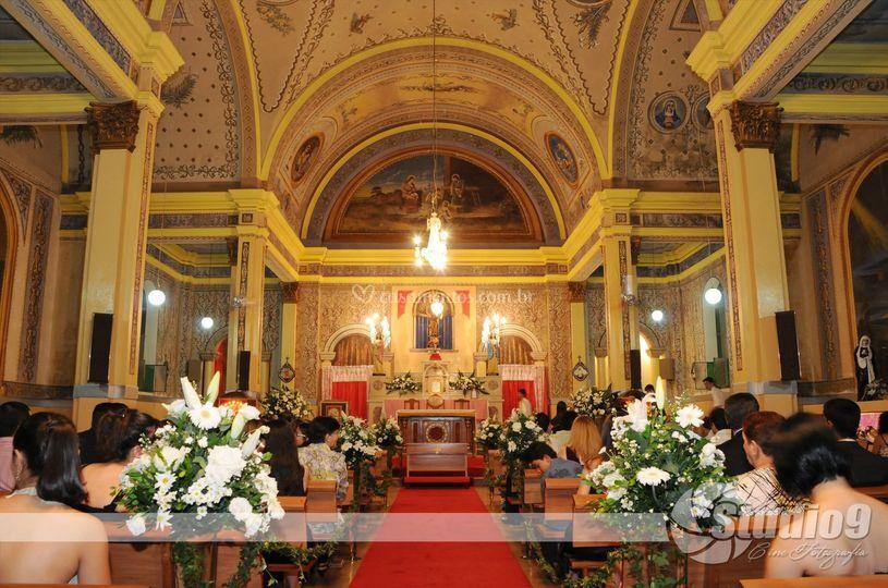 Vista interna igreja