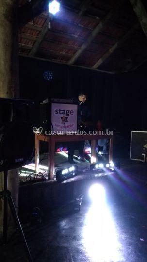 Stage som, luz e dj's