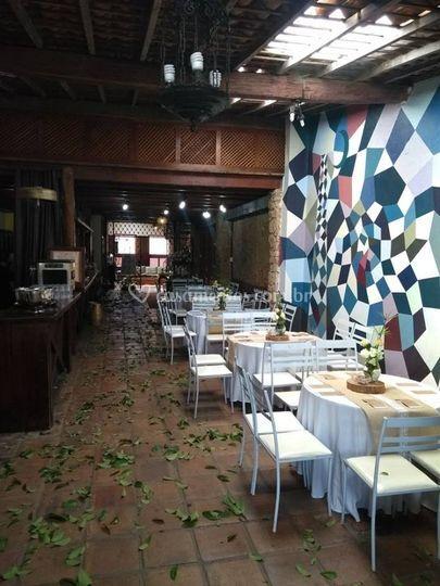 Salão mesas convidados