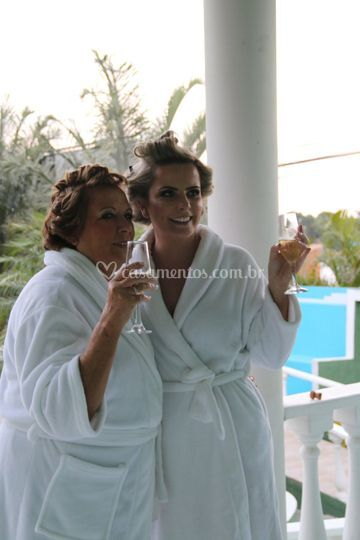 Noiva Fernanda e sua Mãe