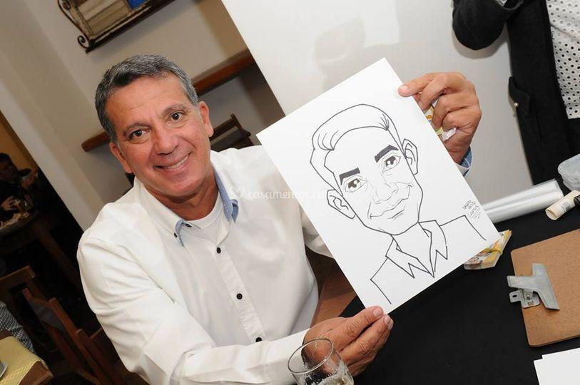Caricatura feita ao vivo