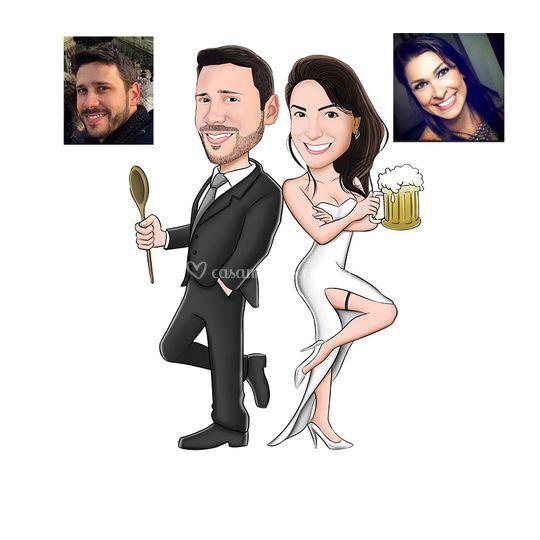 Caricatura para noivos