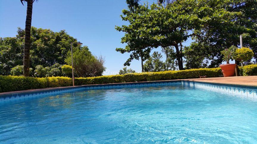 Área piscina e sauna