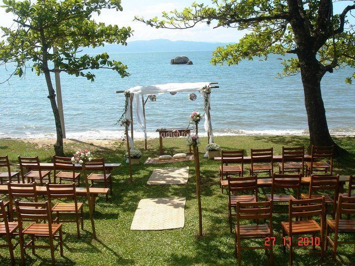 Casamento a beira mar