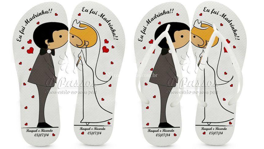 Lembrança casamento -Chinelo