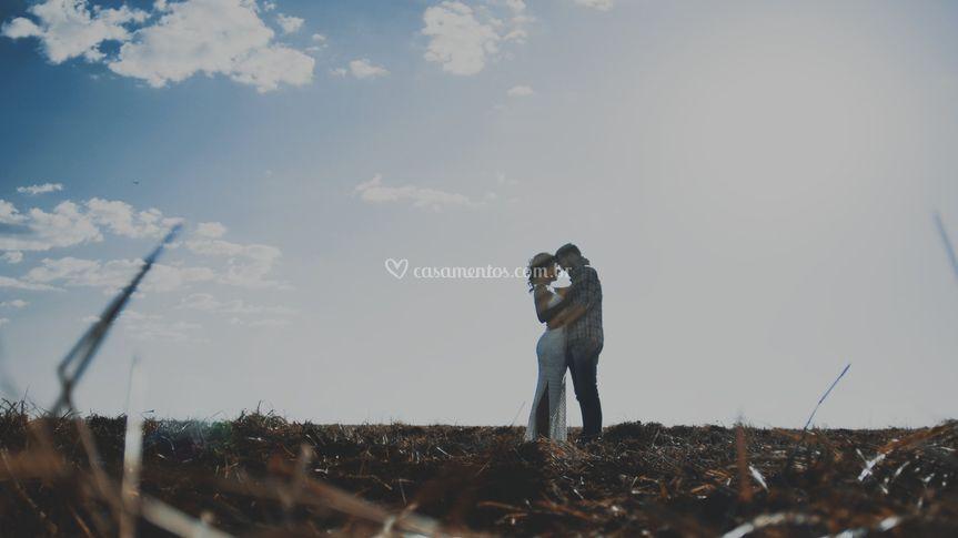 Casal com amor transbordando!