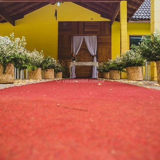 Entrada da noiva, rustico