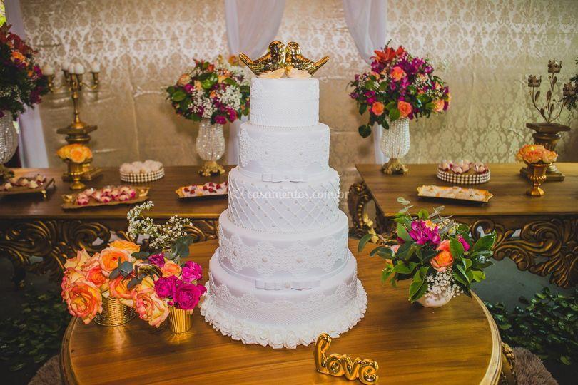 Casamento Mesas douradas
