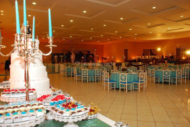 Mesas de bolos de casamentos