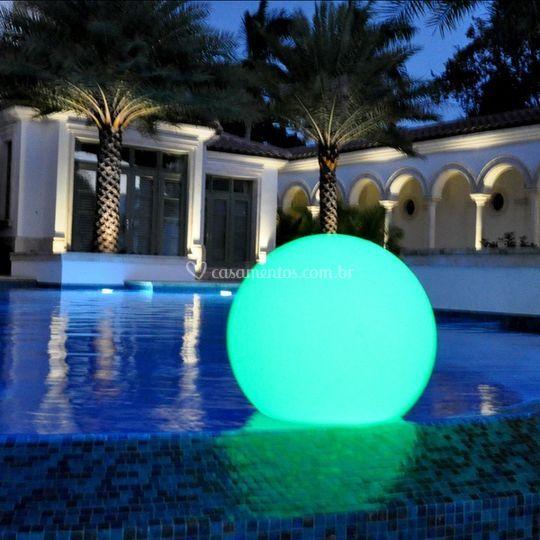 Esferas 35 e 50 Led RGB