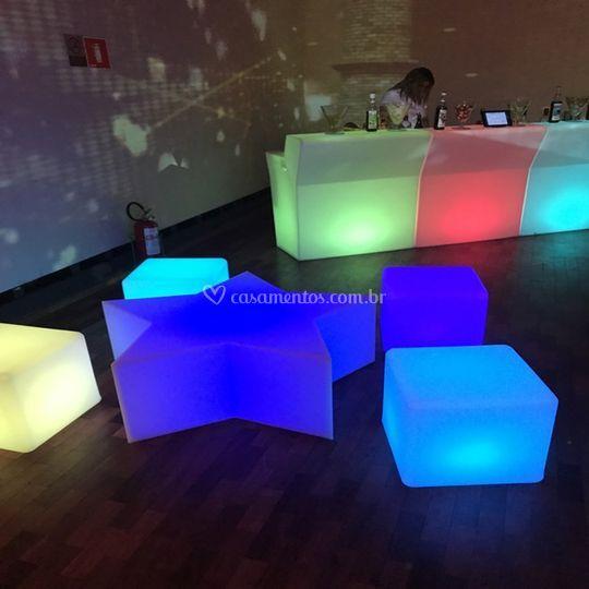 Lounge para Eventos Led RGB