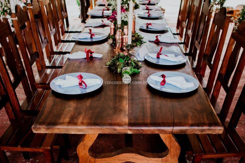 Mesa dos Noivos Rústica