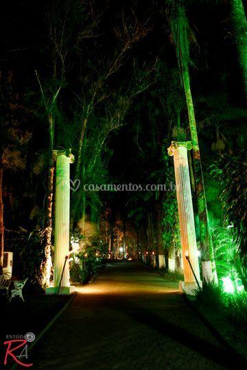 Colunas gregas entrada espaço