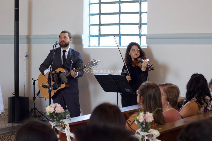 Dupla com Violino cerimônia