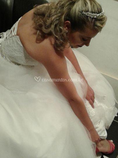 A noiva linda!