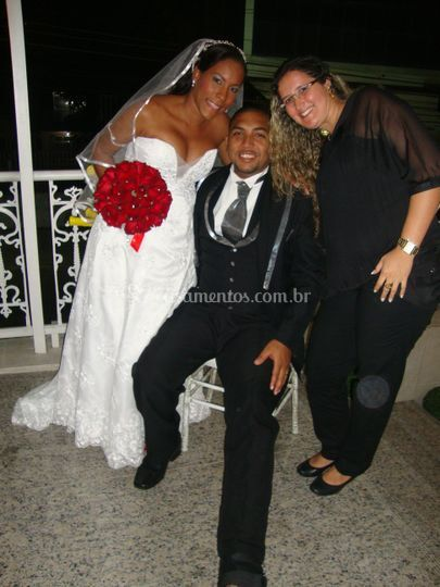 Noivos Lisiane e Bruno
