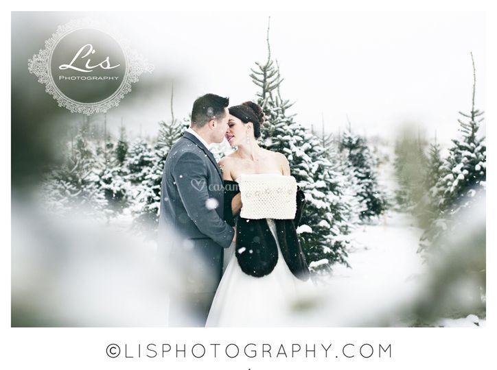 Casamento com neve