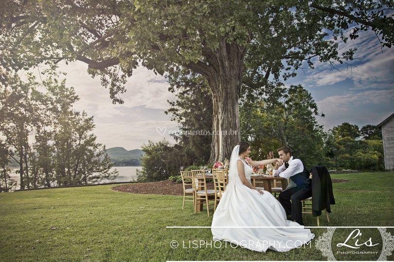 Casamento elegante ao ar livre