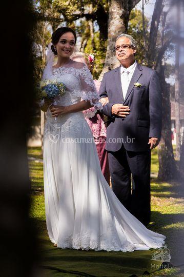 Noiva com os pais
