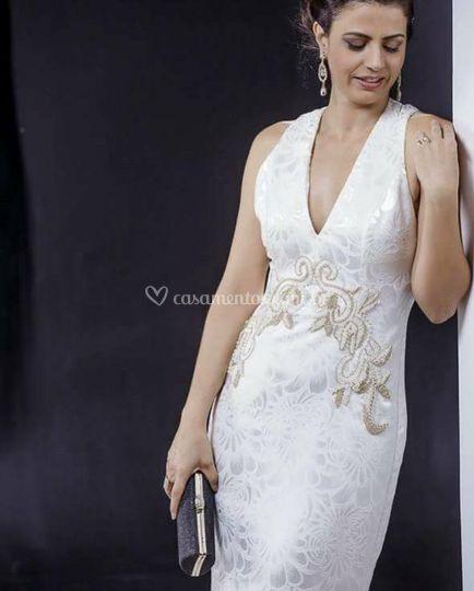 Vestido noiva bordado