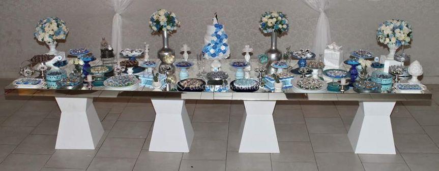 Casamento tons de azul