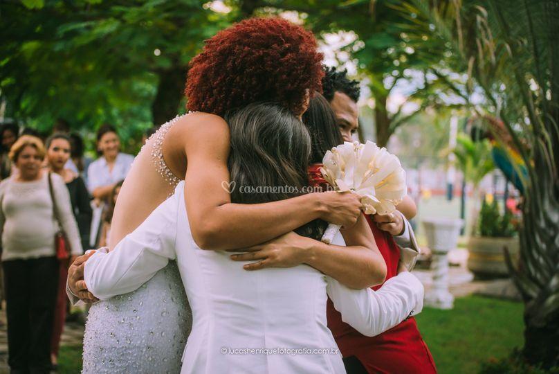 O carinho da noiva