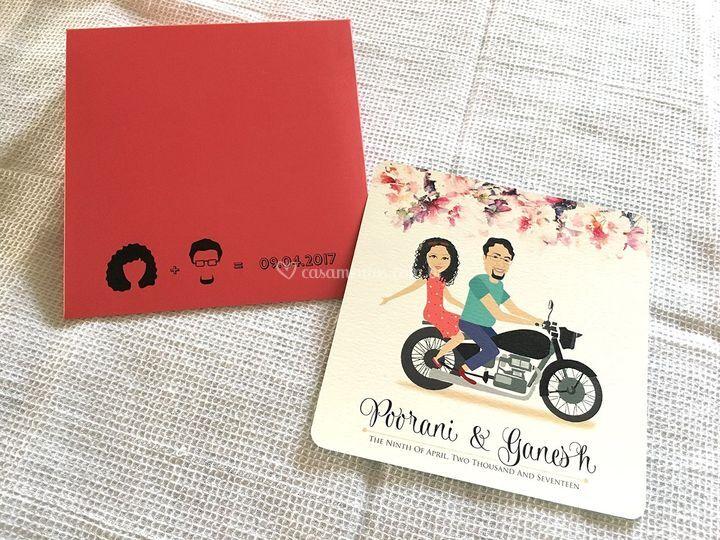 Convites de casamento personal
