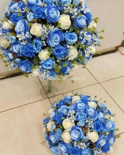 Arranjos Tons de Azul e Branco