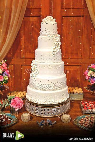 Mesa doces e bolo