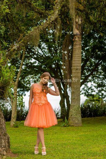 Vestido de Debutante Curto-1