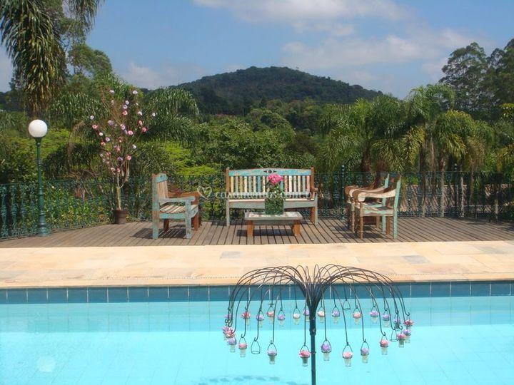 Vista piscina lounge