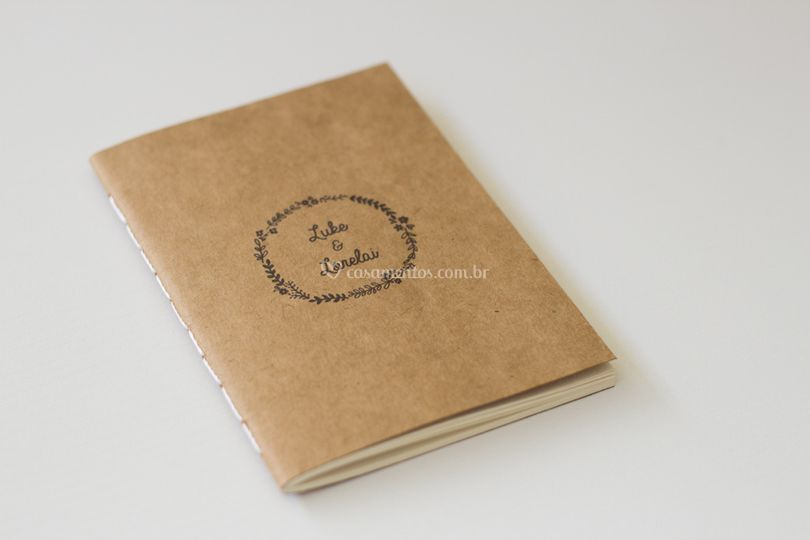 Caderninho rústico