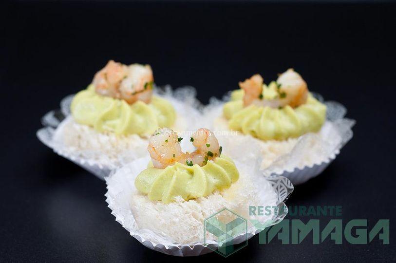 Canapés de camarão