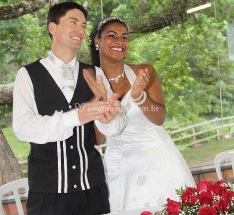 Felicidade dos noivos