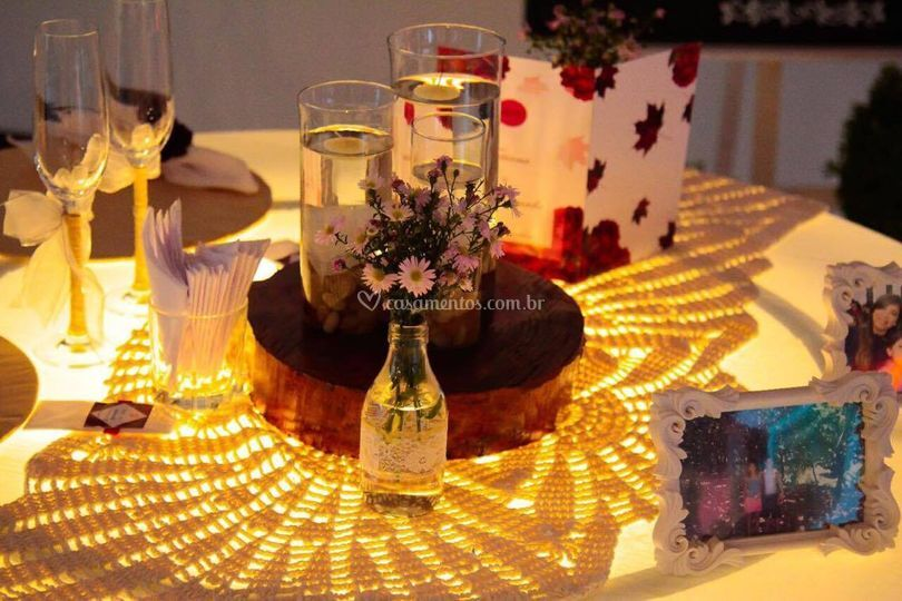 Mesa preparada para os Noivos!
