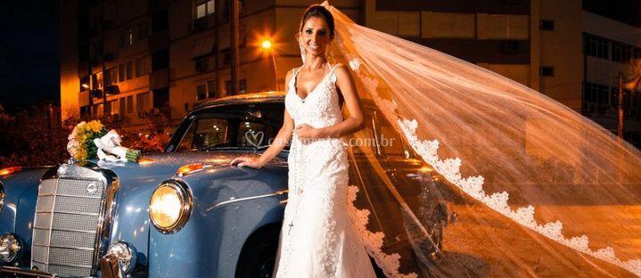Momento da chegada da noiva.