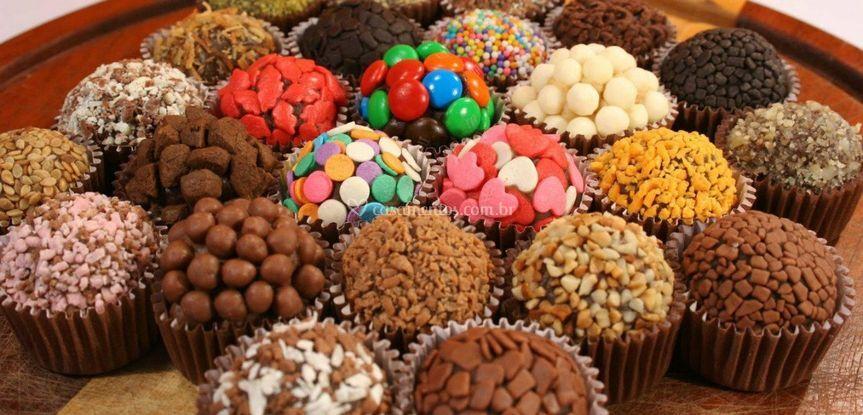 Mesa de chocolates finos