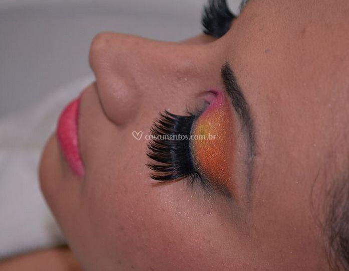 A maquiagem do casamento