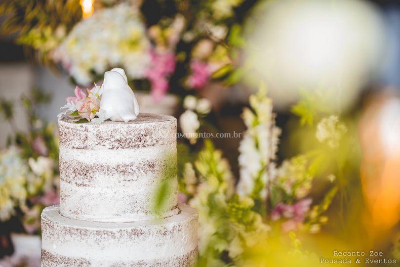 Detalhes mesa do bolo